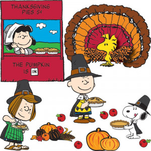 Happy Thanksgiving Charlie Brown Snoopy Peanuts fall pumpkins extra