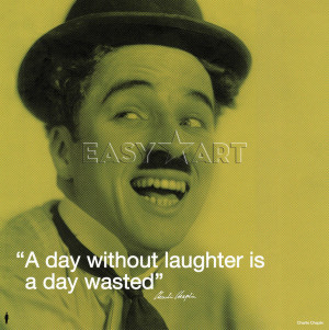 Charlie Chaplin (I.Quote - Laughter) Art Print by Celebrity Image