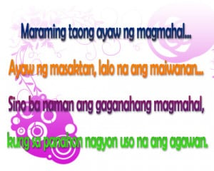 Tagalog Love Quotes and Saying - Love Hurts
