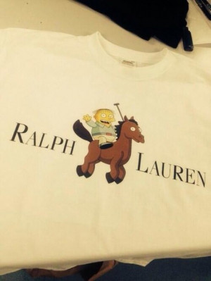 ralph lauren white funny quote quote on it shirt the simpsons ralph ...