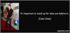 stand up for what you believe in quotes