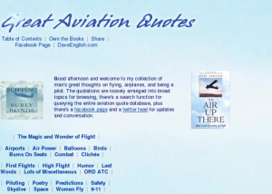 Great Aviation Quotes: Quotations on Airplanes, Flying and Being A ...