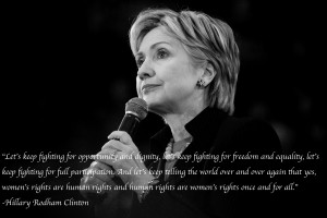 Hillary Clinton on women's rights.