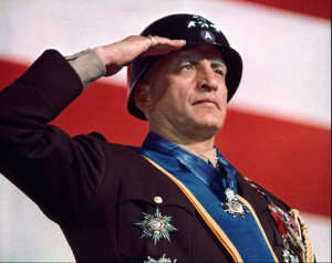 Actor George C. Scott portrays Second World War Gen. George S. Patton ...