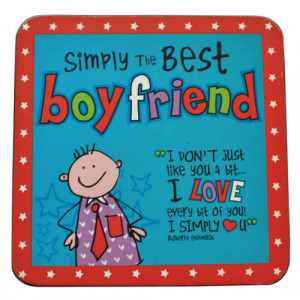 Simply The Best Boyfriend Coaster