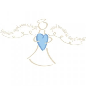 RoomMates RMK1893GM Boy Guardian Angel Peel and Stick Giant Wall Decal