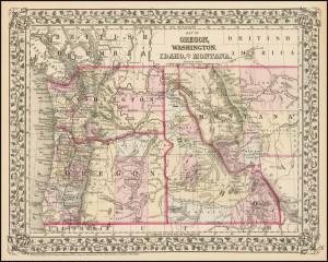 Washington Idaho Montana Map