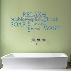 Bathroom Word Cloud Vinyl Wall Sticker Quote 125 x by Mirrorin, £19 ...