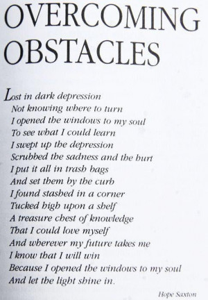 Overcoming Obstacles...
