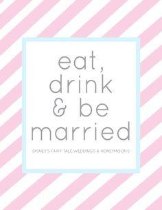 ... drink and be married | Disney's Fairy Tale Weddings & Honeymoons More