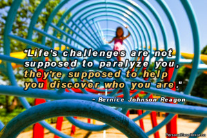 "Inspirational Quote: ""Life's challenges are not supposed to ..."