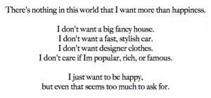 Just want to be happy lyrics