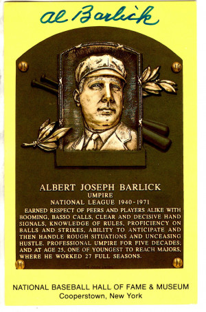 Baseball Hall of Fame Plaques