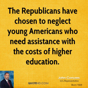 The Republicans have chosen to neglect young Americans who need ...