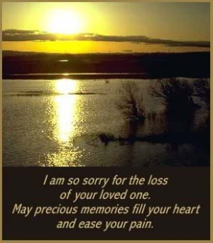 sorry for your loss,