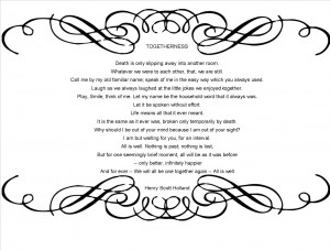 togetherness funeral poem the best is yet to be funeral
