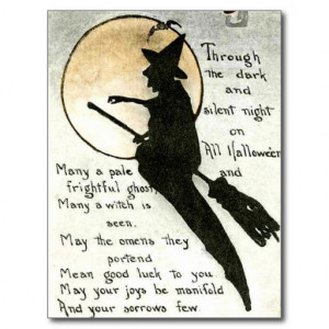 Halloween Witch / Witches Quote / Poem / Spell Postcard