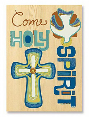 Come Holy Spirit Confirmation Card - Multi-Color
