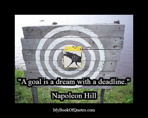 goal is a dream with a deadline napoleon hill