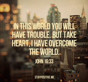 , bible verse, god, heart, john, overcome, perfect, quote, quotes ...