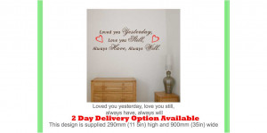 LOVE QUOTES Saying Wall Decal Sticker I LOVE YOU STILL | eBay