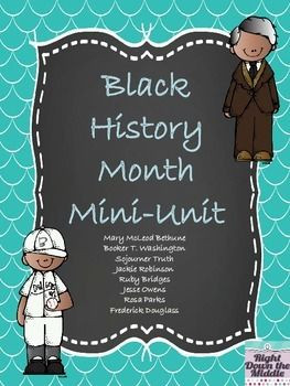 Black History Month Mini-Unit: Includes eight biographical readings ...