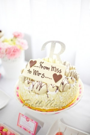 how to choose the best bridal shower cake sayings