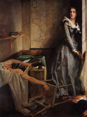 Charlotte Corday , by Paul-Jacques-Aime Baudry .