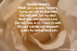 Get Well Soon Prayer Quotes Speedy recovery
