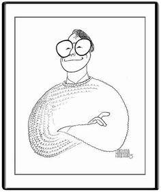 Linus Torvalds by Al Hirschfeld.