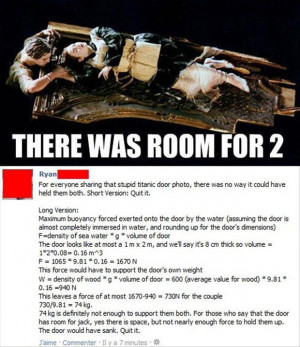 funny titanic room for two on the door