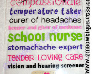 School Nurse Appreciation Clipboard. Free personalization. Great Gift ...