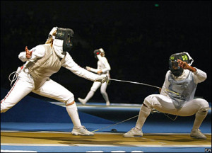 has the United States 39 Erinn Smart in trouble in the individual foil