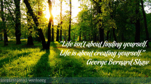 Inspirational Wallpaper Quote by George Bernard Shaw
