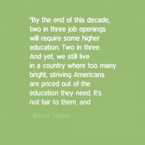 Barack Obama Quotes on Education From the SOTU