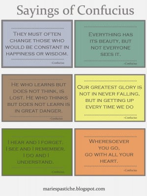 Sayings of Confucius - Printable Quotes
