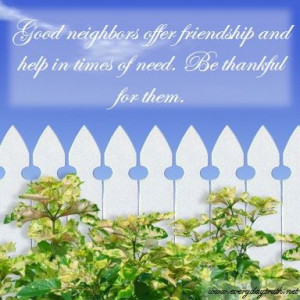 Day 8: Thankful for Neighbors -- Everyday Truth