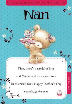 With Extra Special Love On Mother's Day Nan