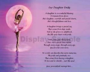 Dancer Print Personalized Daughter Poem Dance Recital Gift Idea