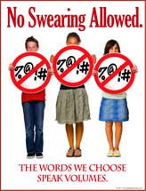 No Profanity Prevention Poster