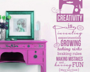 ... Sew Sewing Crafts Saying Vinyl Wall Decals Stickers Art Decor Mural
