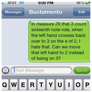 ... … More drummer talk. Lawl. #drumline #tenors (Taken with Instagram