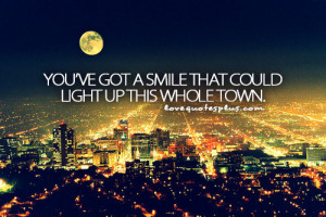 Home » Picture Quotes » Sweet » A smile that could light up this ...