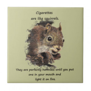 Funny Quit Smoking Motivational Quote Ceramic Tiles