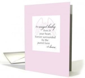 Sympathy Loss of Baby Girl, Angel Baby card (646467)