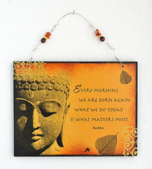 Buddha Wall Hanging Art with Buddha quote with by QuoteCreations, $30