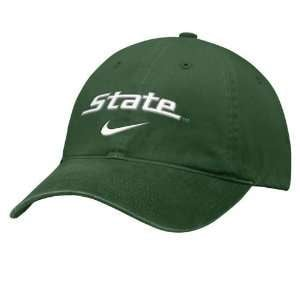 Nike Michigan State Spartans Green Campus II Hat Sports & Outdoors