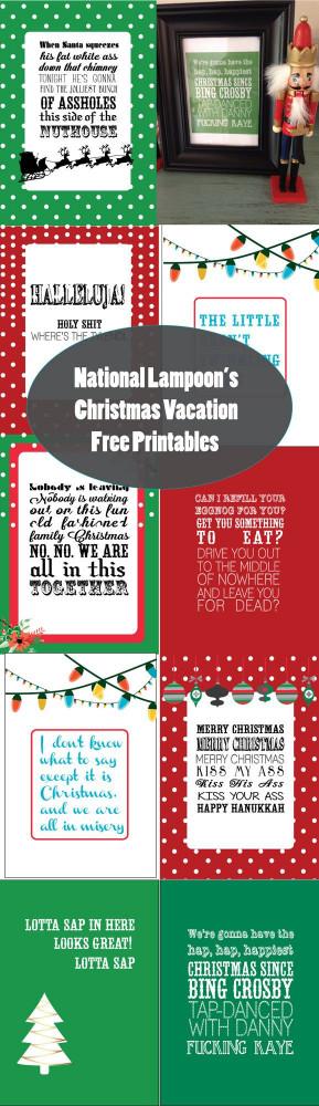National Lampoon's Christmas Vacation Free Holiday Printables ...