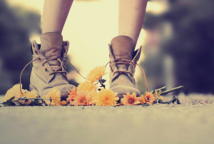 angry, boots, flower, love, military, vintage