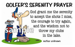 Details about GOLFER'S SERENITY PRAYER Funny Golf T-Shirt ANY SIZE